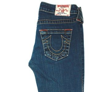 TRUE RELIGION NAVY BLUE JEANS SIZE 24